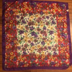 Vintage Berkshire made in Italy floral scarf